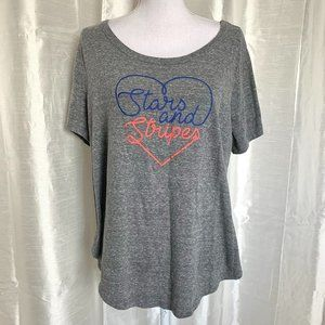 LANE BRYANT   PATRIOTIC TEE   14/16